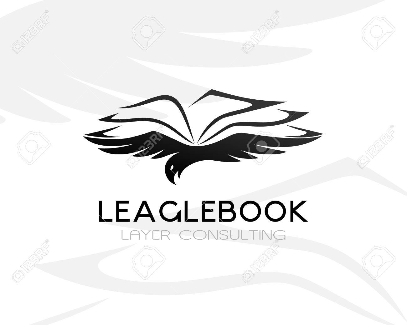 Eagle With Lawbook. Law Firm Logo Template. Concept For Legal ...