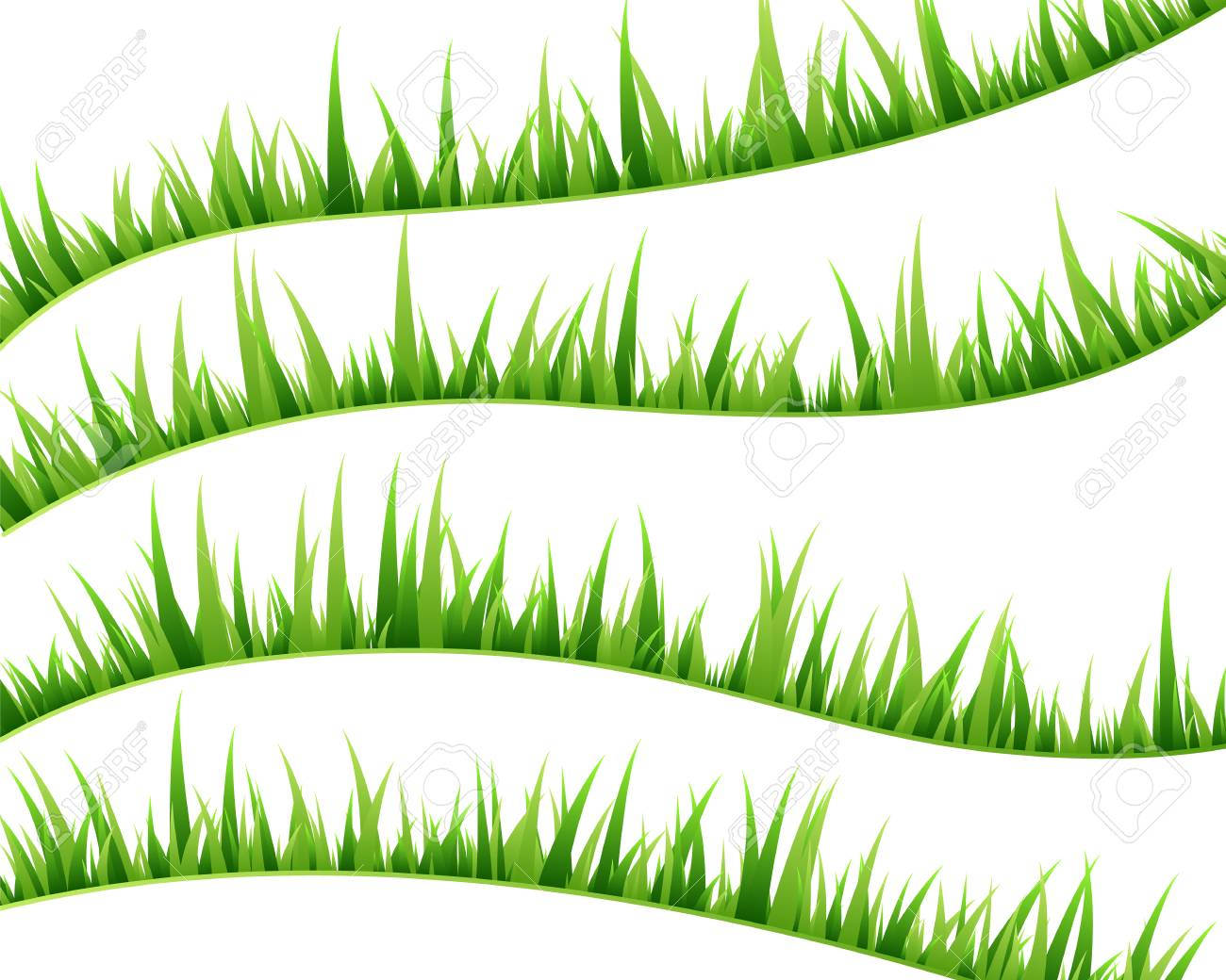 Green grass decorative elements swirl borders set vector green grass decorative elements swirl borders set vector illustration stock vector 97019036 altavistaventures Images