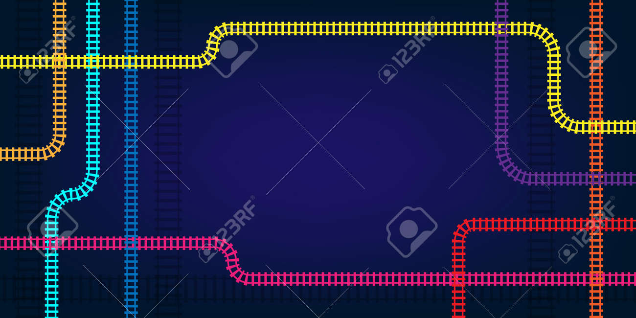 Metro map scheme. Vector abstract background. - 158145316