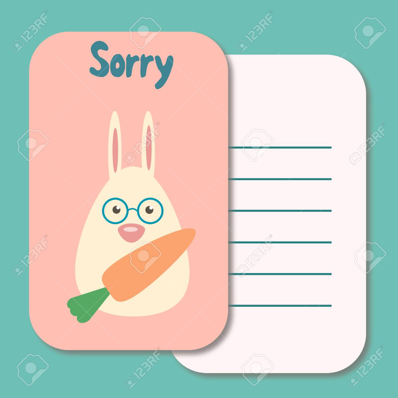 photo about Printable Sorry Card identify Adorable printable instance sorry card typography style and design record..