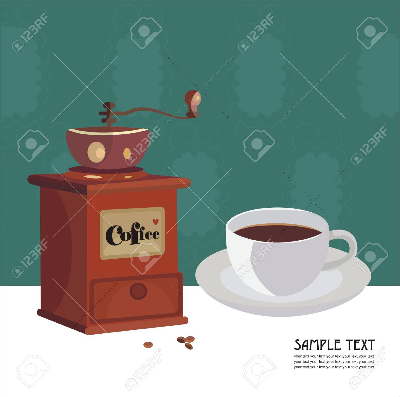 All about the coffee Stock Vector - 6405131