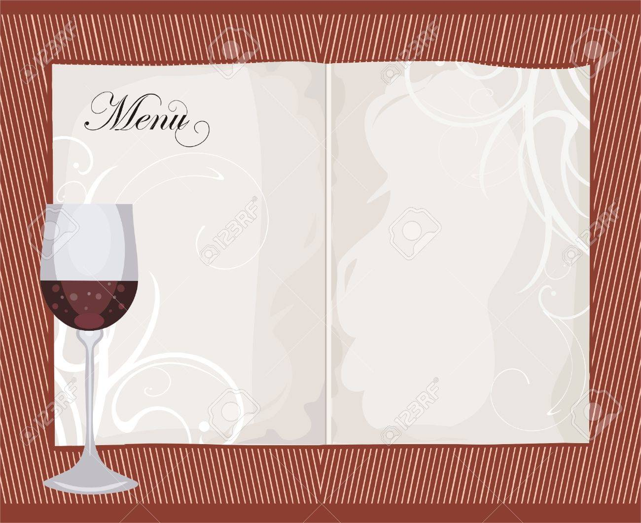 Menu template with galss of wine royalty free cliparts vectors menu template with galss of wine stock vector 7008870 pronofoot35fo Gallery