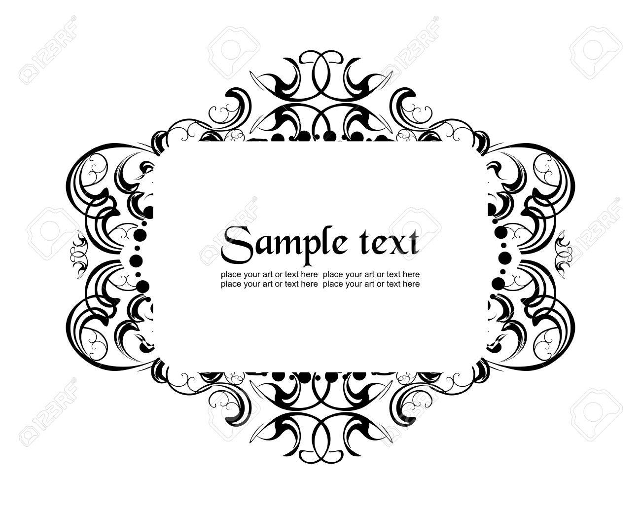 Holiday Frame In Alice In Wonderland Style Royalty Free Cliparts