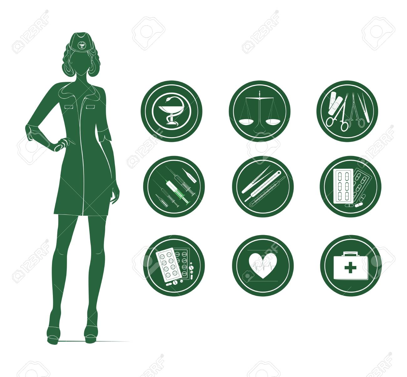 medical and healthcare icons Stock Vector - 18586372
