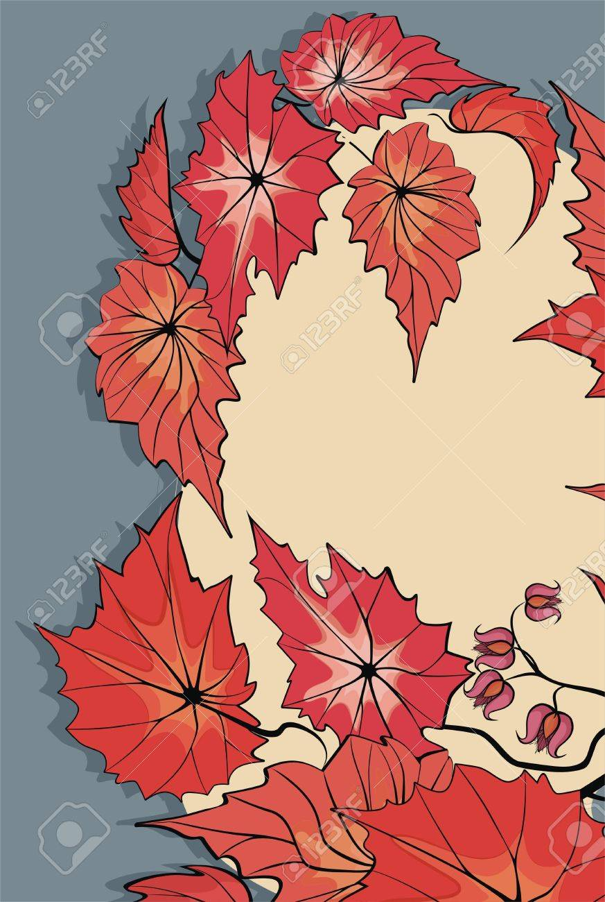 Flower background with begonia plant Stock Vector - 21744933