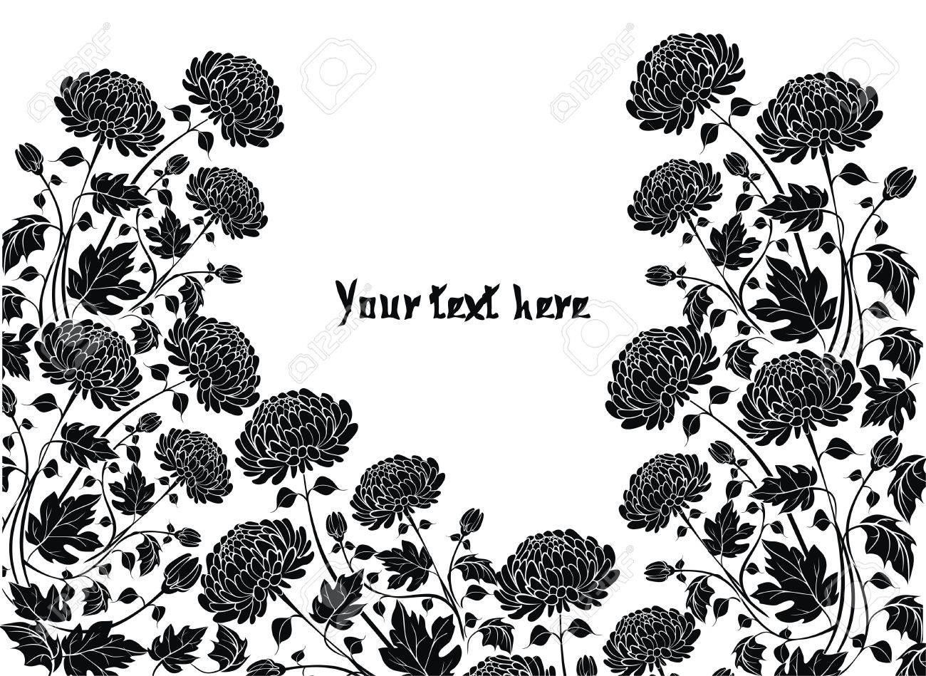 Elegant  flower background with chrysanthemums Stock Vector - 21744936