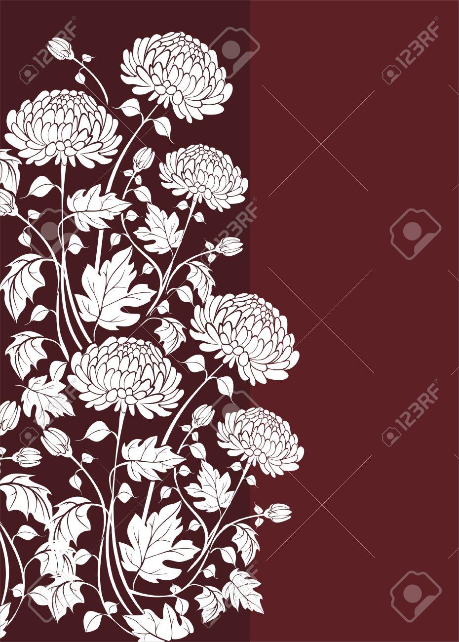 Elegant  flower background with chrysanthemums Stock Vector - 21744944