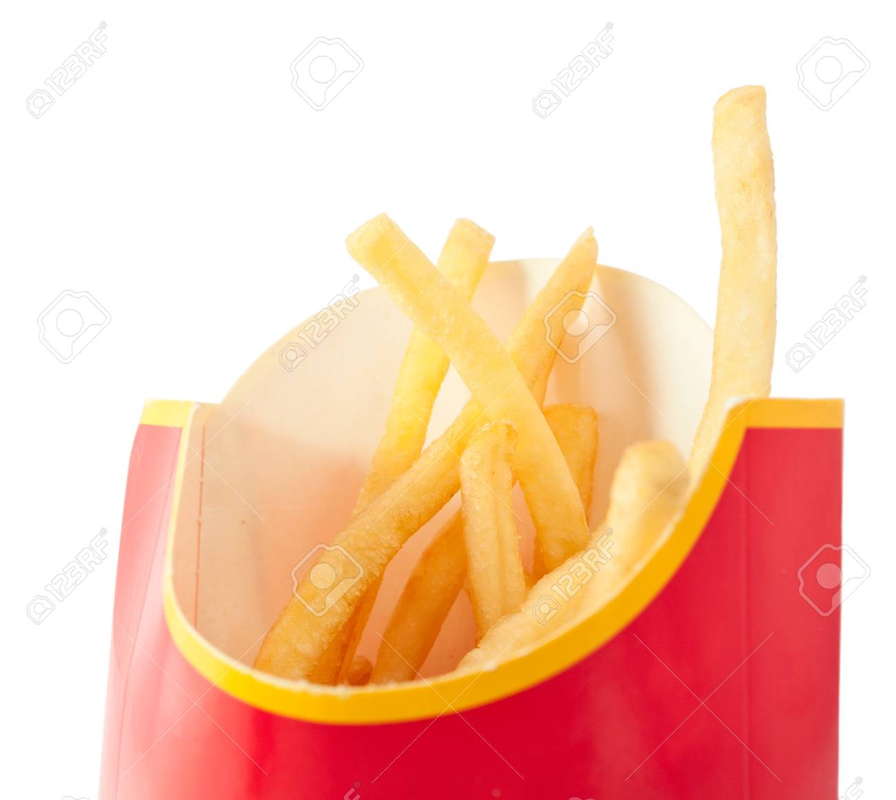 French fries on a white background Stock Photo - 8796583
