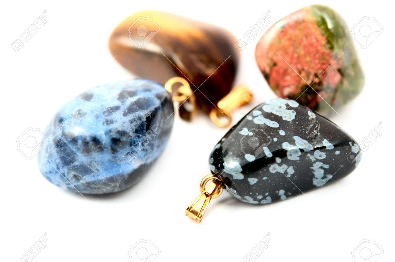 jewelry stones on a white background Stock Photo - 9363807