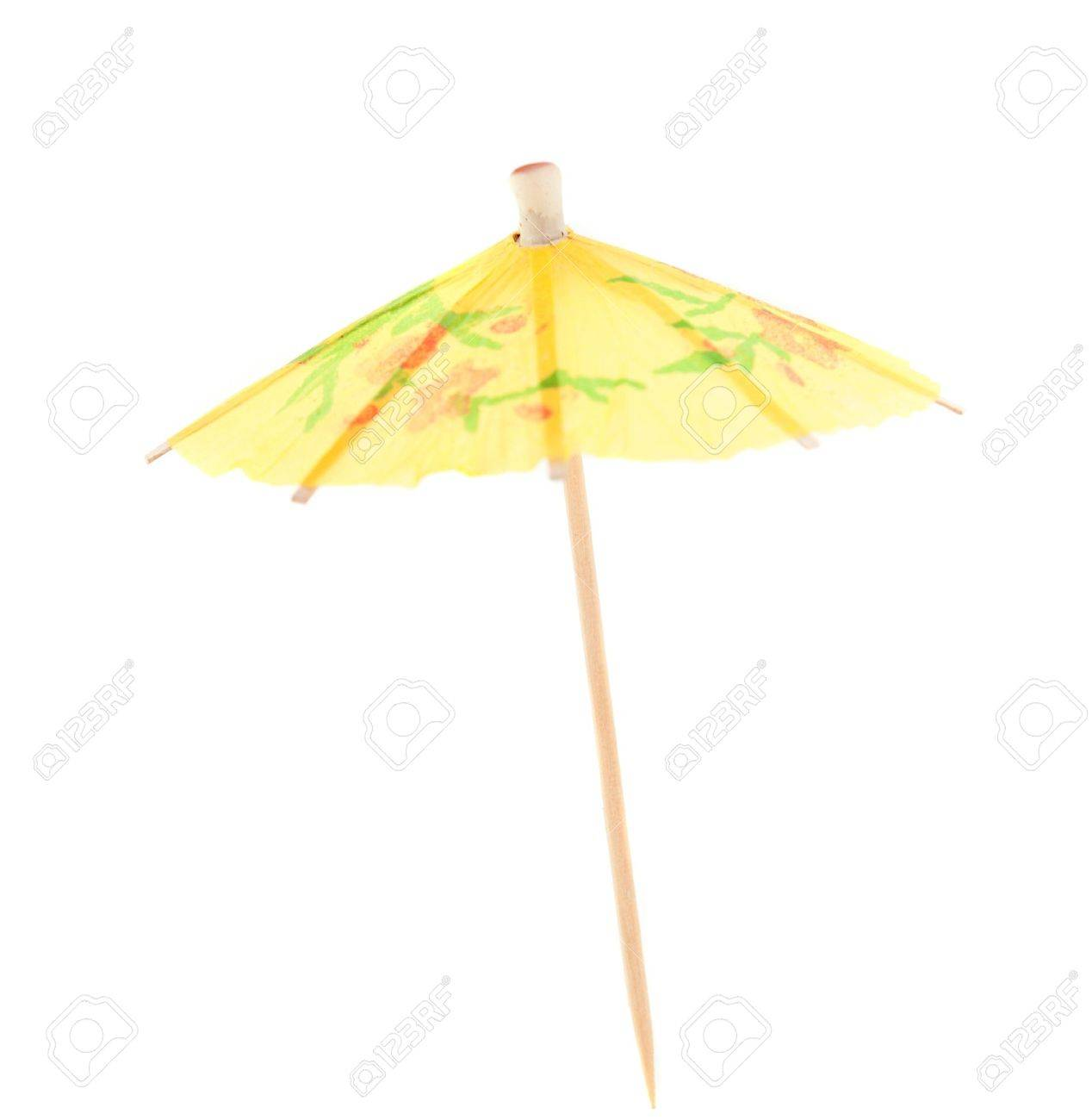 umbrella for cocktails on a white background stock photo picture
