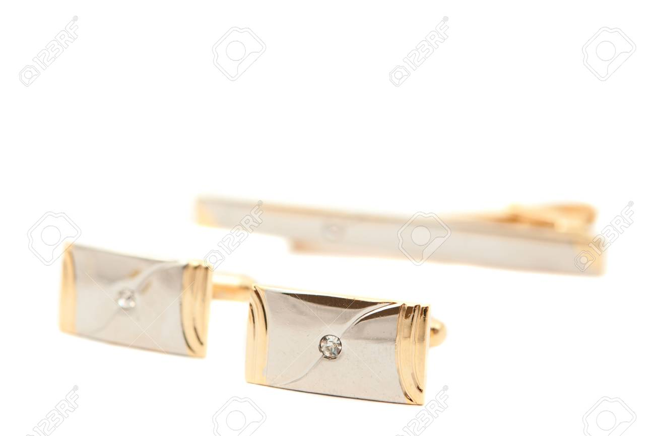 cufflinks on a white background Stock Photo - 9644877