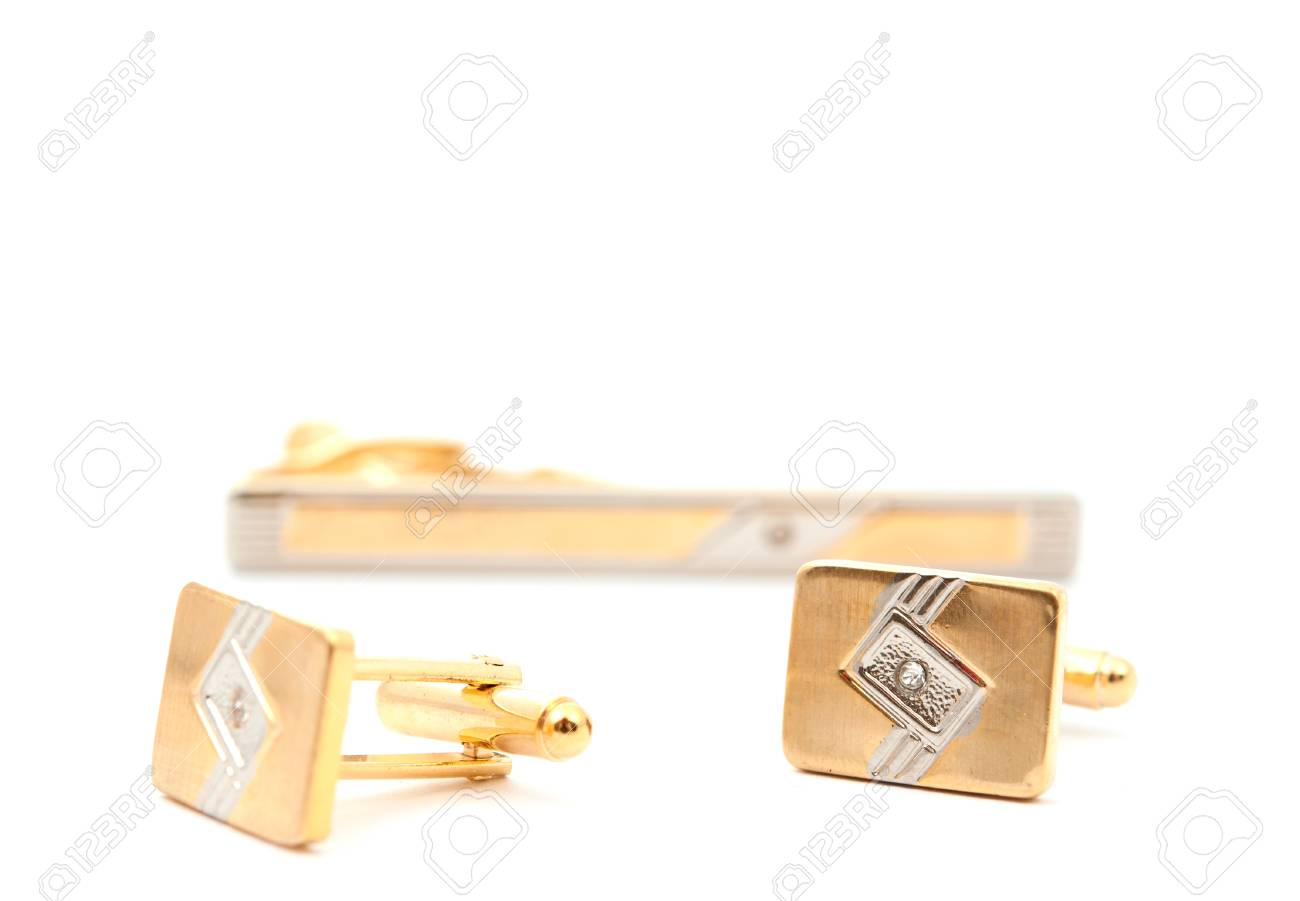 cufflinks on a white background Stock Photo - 9644880