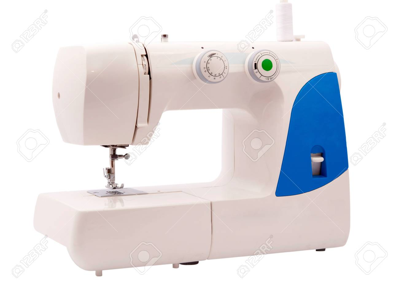 sewing machine on a white background Stock Photo - 9982542