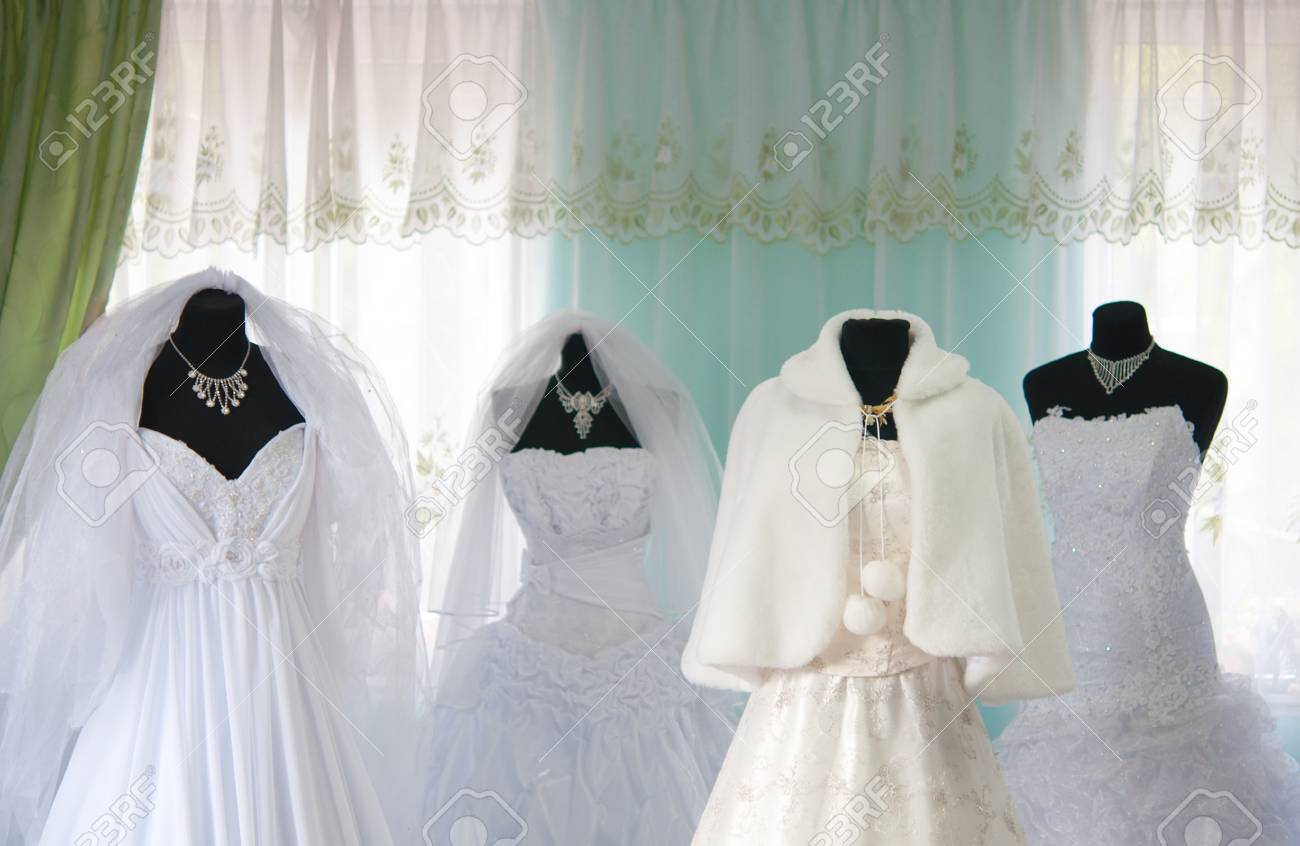 Wedding Dresses In The Store Stock Photo, Picture And Royalty Free ...