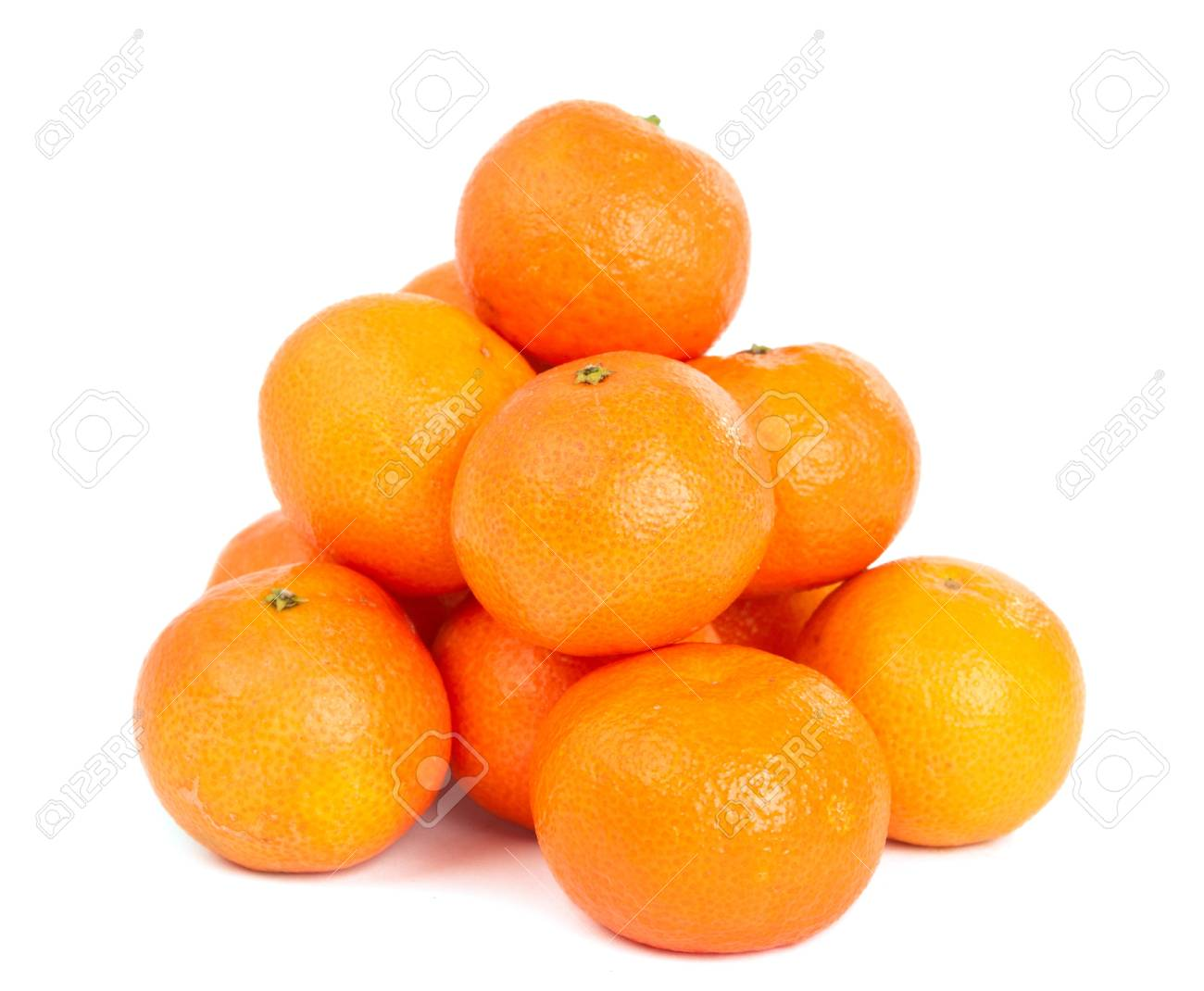 tangerine on white background Stock Photo - 11469348