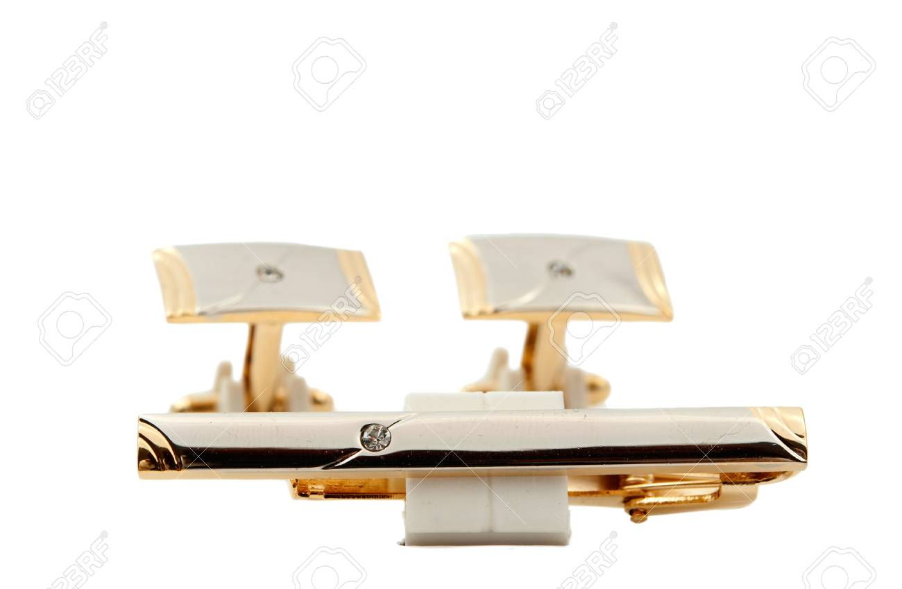 cufflinks on a white background Stock Photo - 12360479