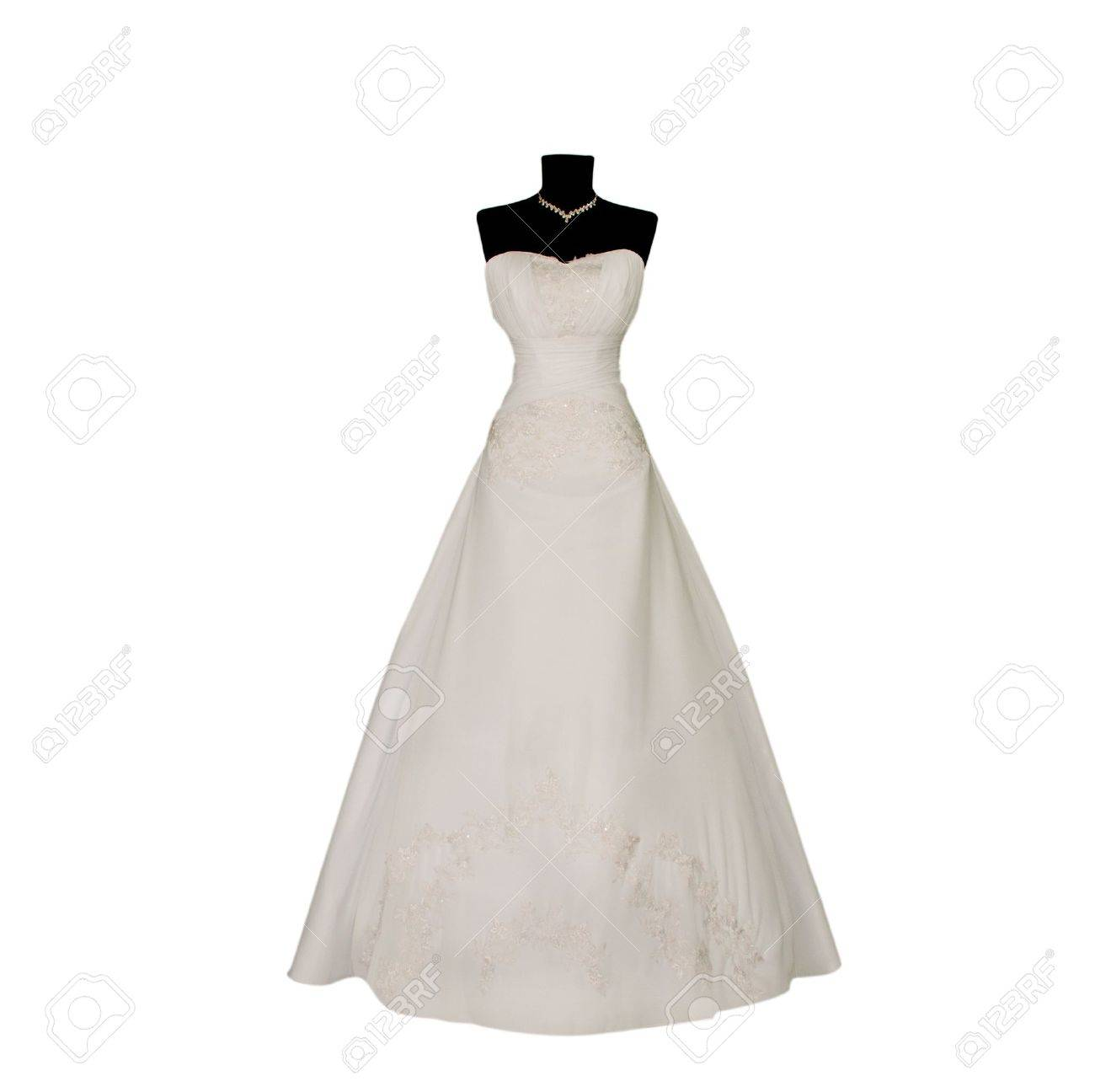 Wedding dress on mannequin isolated on white Stock Photo - 13404138