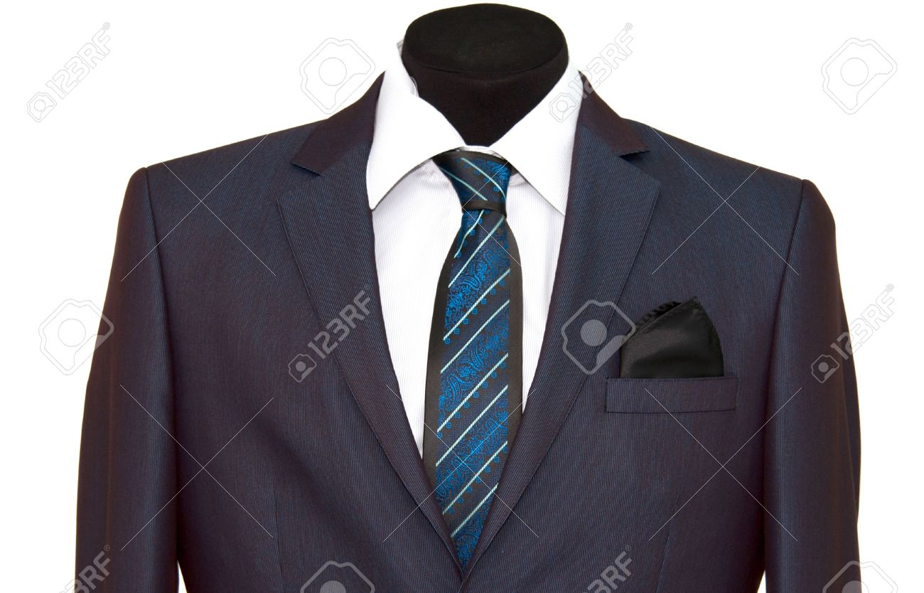 jacket and tie on a white background Stock Photo - 13404256