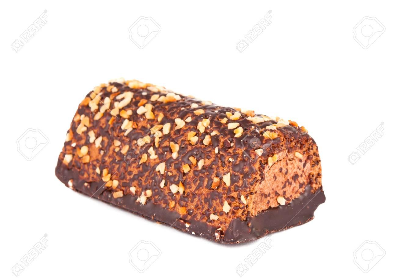 chocolate cake isolated on white background Stock Photo - 13695196