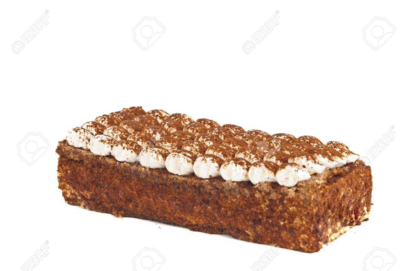 cake with cream isolated on white background Stock Photo - 13800344