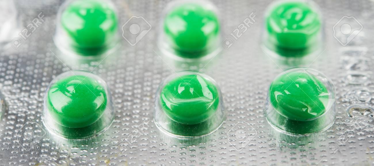 Pills blister pack detail Stock Photo - 17280339
