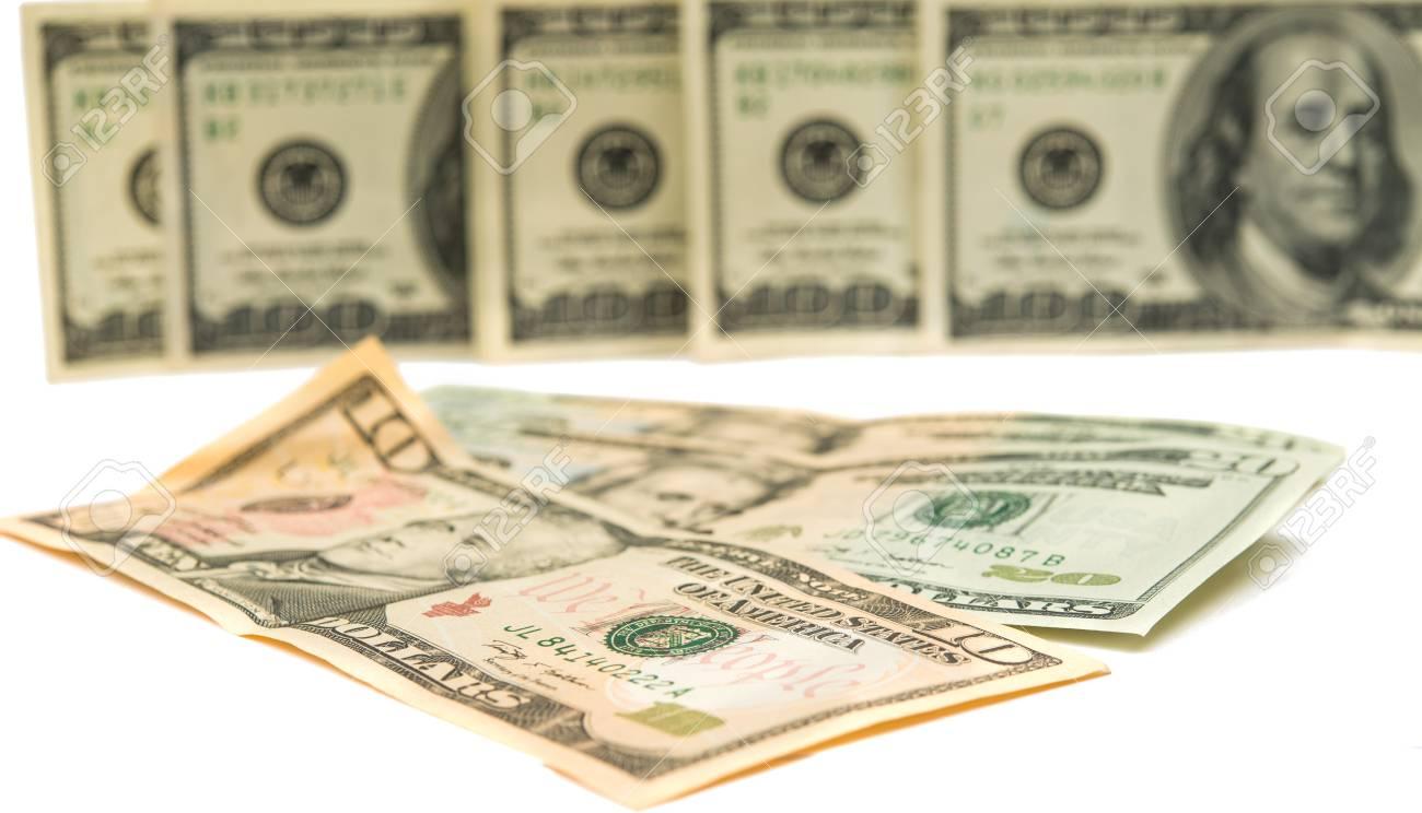 dollars isolated on white background Stock Photo - 17549579