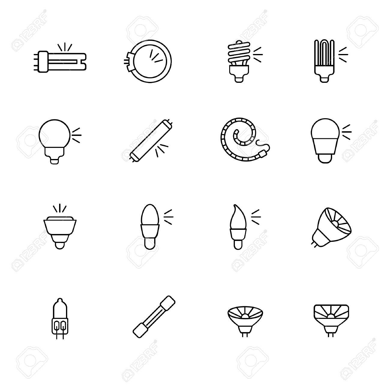 Arten Von Glühbirnen Für Verschiedene Arten Von Beleuchtung Als ...