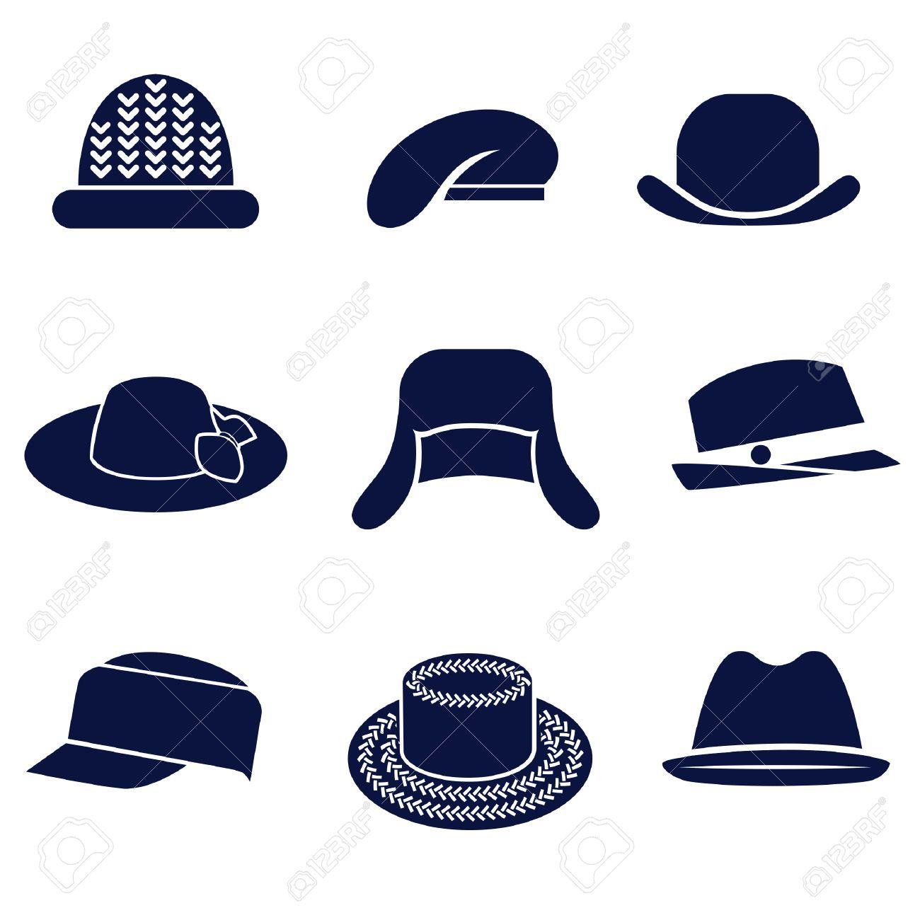 Different types of women s hats Stock Vector - 64429949 55821ec2793