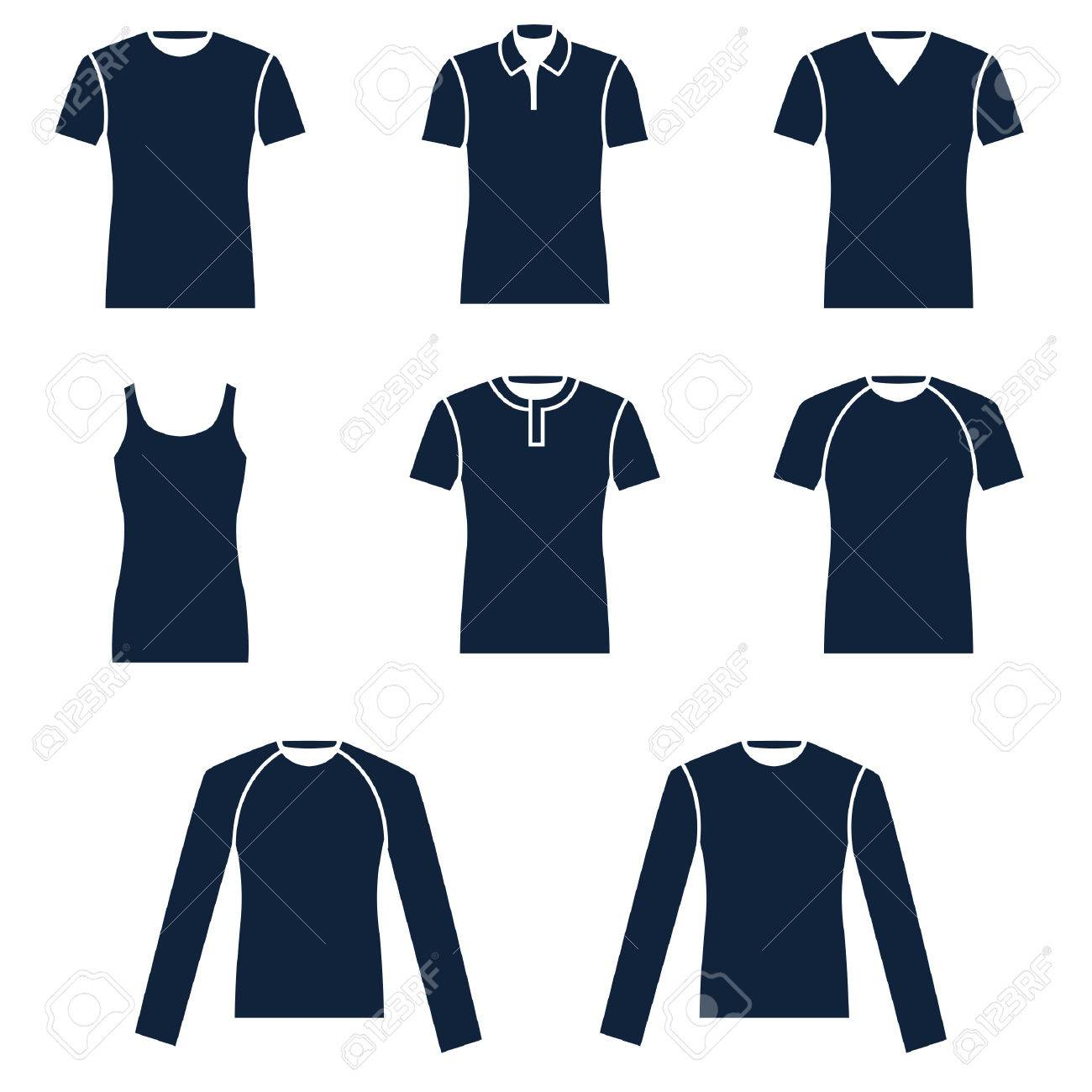 Different Types Of Mens T Shirts Royalty Free Cliparts Vectors And