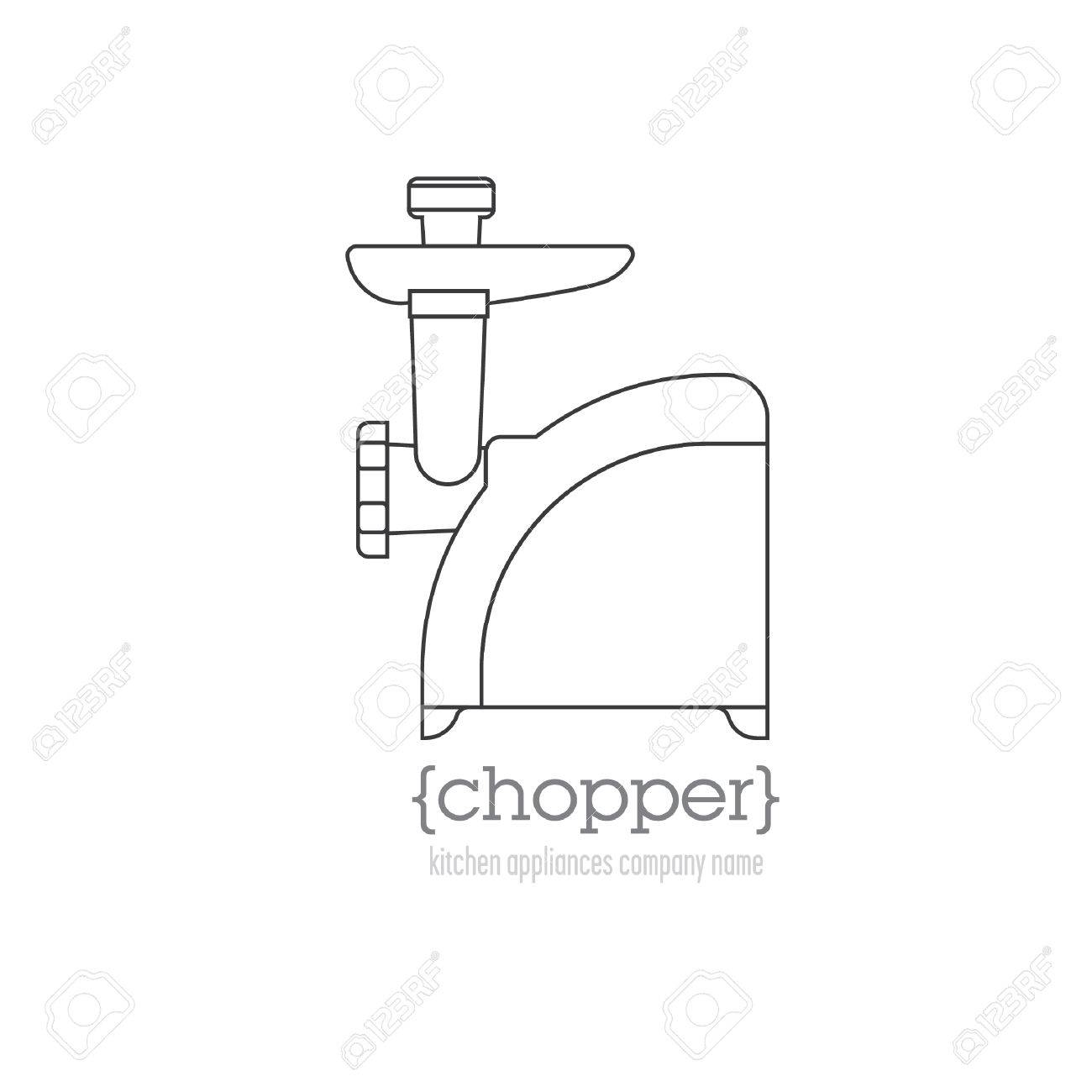 Uncategorized Name Of Kitchen Appliances page template with kitchen appliances mincer space for company name stock vector