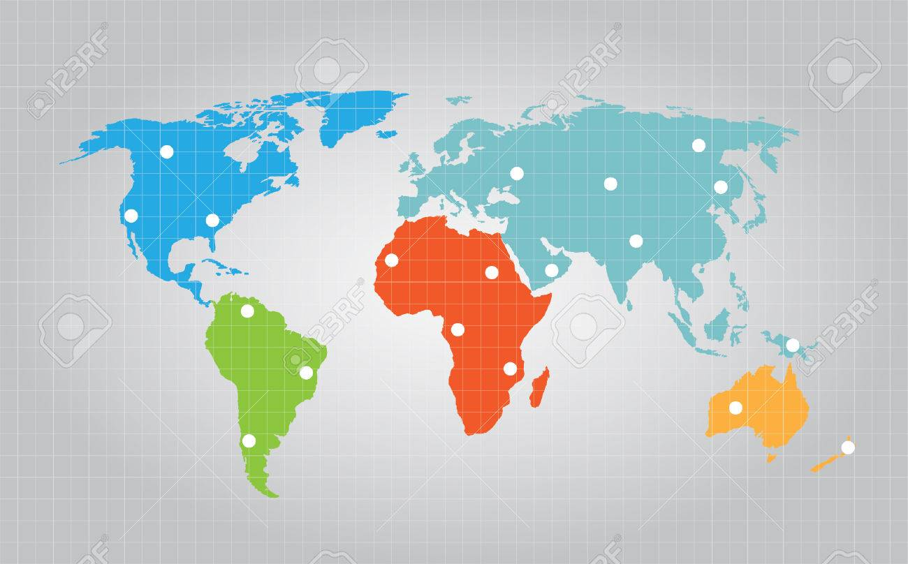 World map grid with marked points royalty free cliparts vectors vector world map grid with marked points gumiabroncs Image collections
