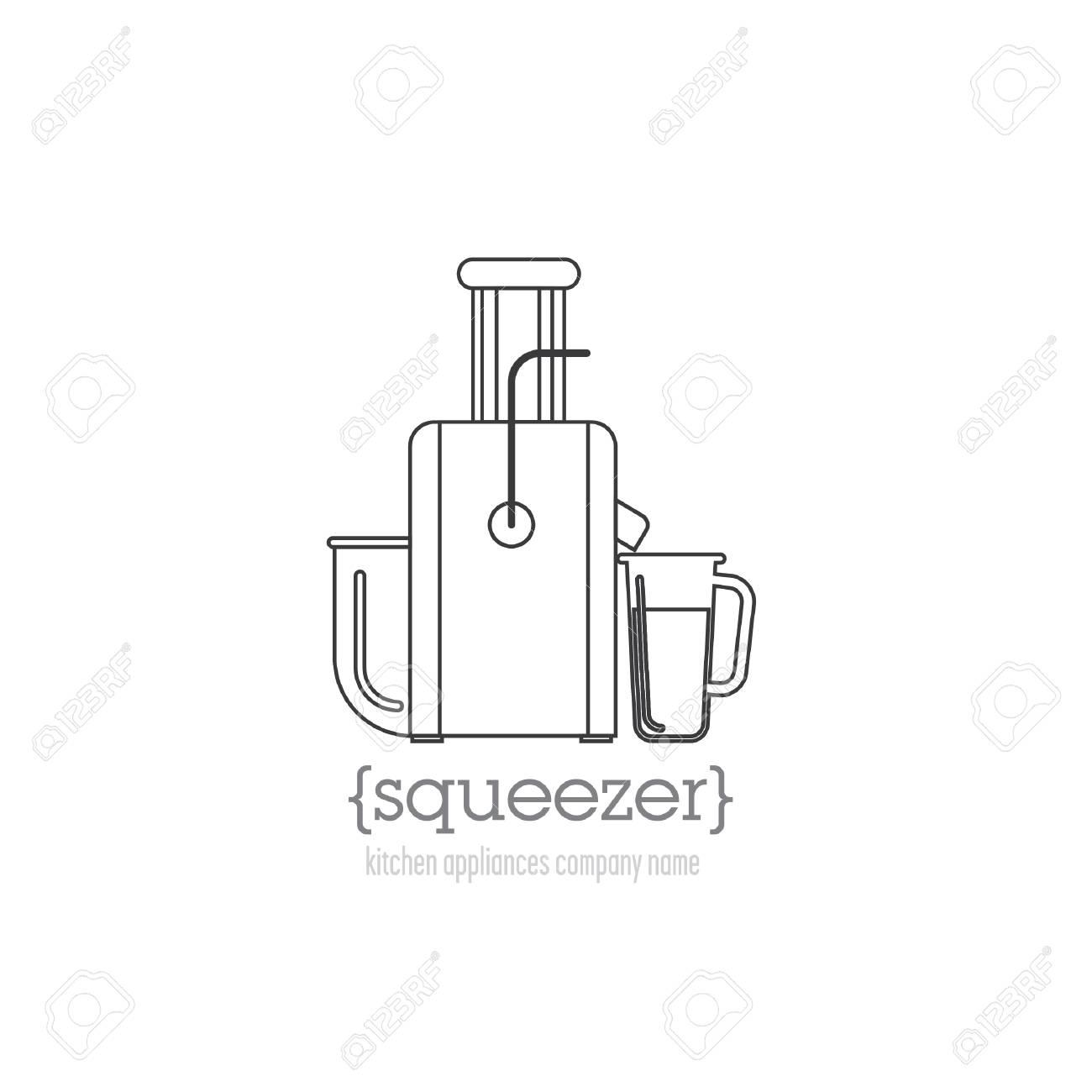 Seitenvorlage Mit Einem Logo Küchengeräte. Entsafter-Logo Mit Platz ...