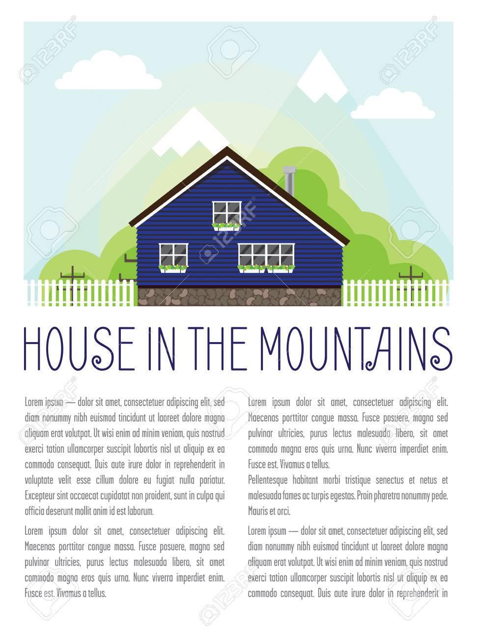 Diseño Con Una Casa En Las Montañas. Casa De Vacaciones En La Parte ...