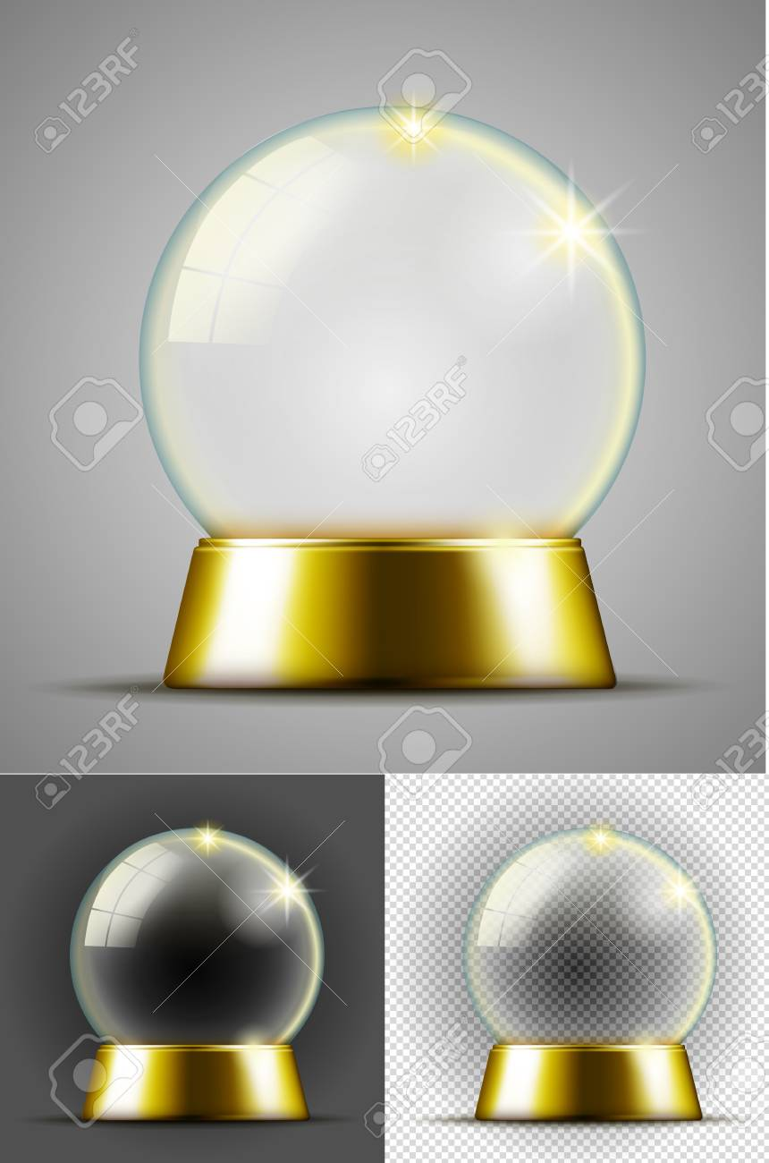 Realistic transarent snow ball. - 110020994