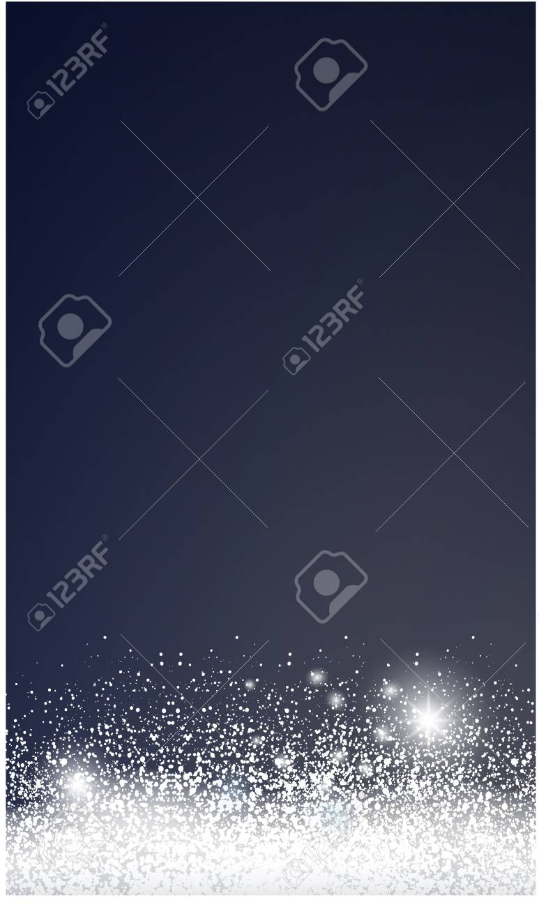 Christmas card with snow. - 109876841