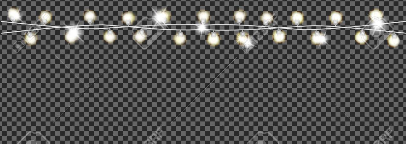 Christmas garland on transparent background. - 109876846