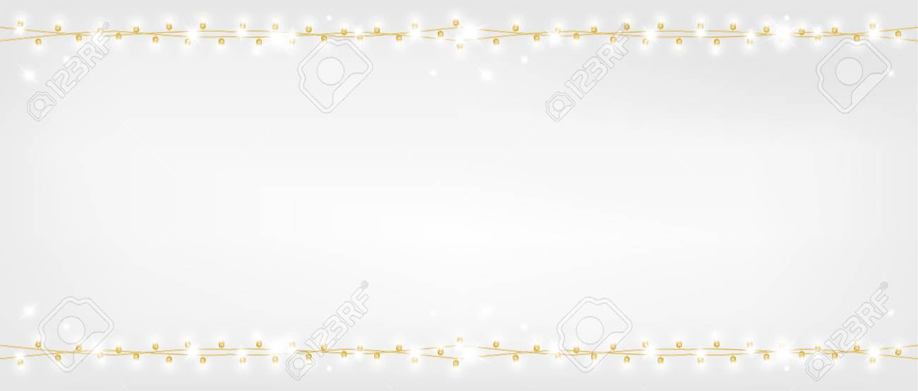 Christmas shiny gold garland. - 109876848