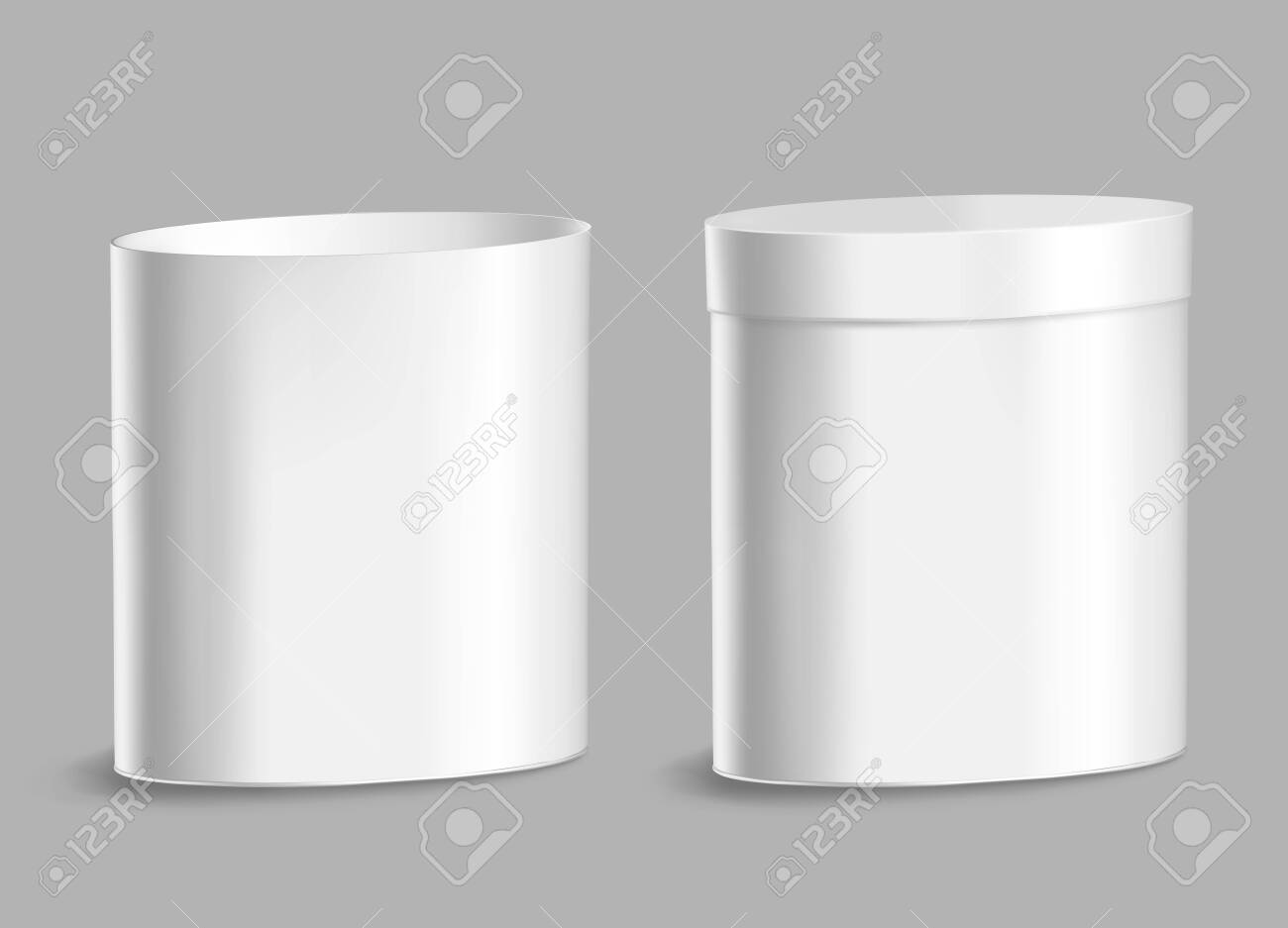 Oval metal can for food, cookies and gifts. - 145205550
