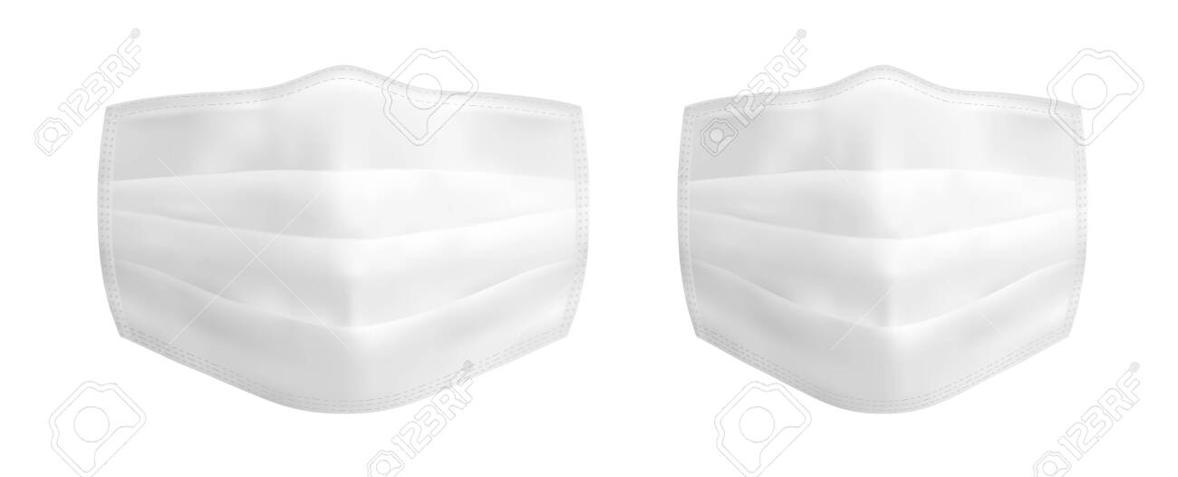 Vector realistic medical face mask - 145117846