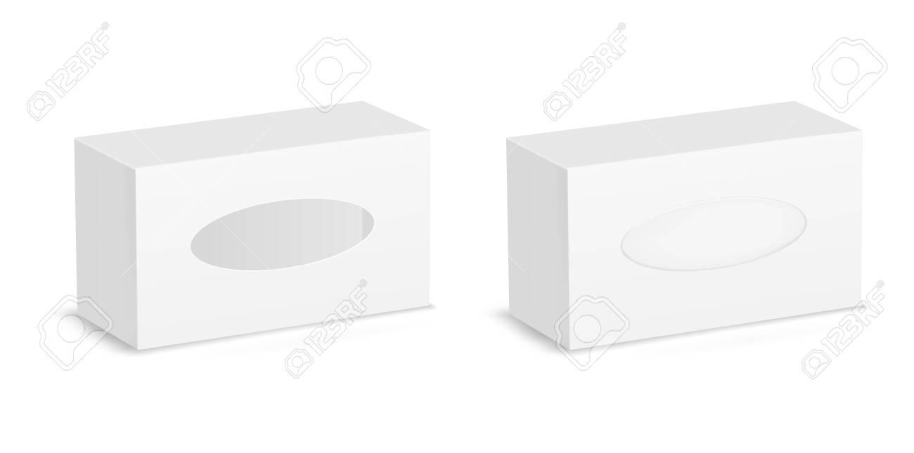 White package window. Vector cardboard box - 145205555