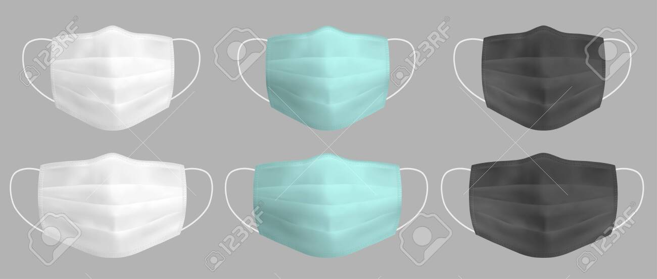 Vector realistic medical face mask - 145117866