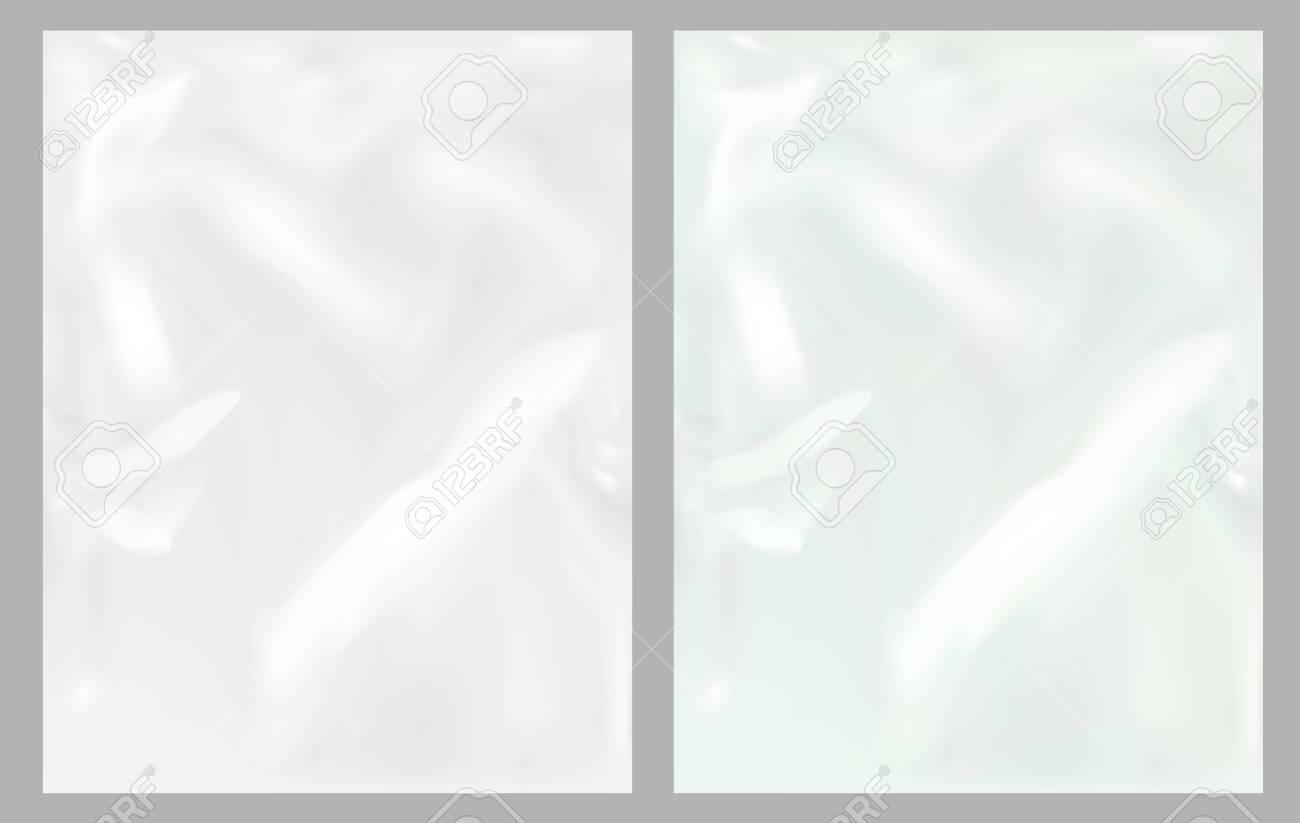 Vector transparent plastic wrapper texture - 145205558