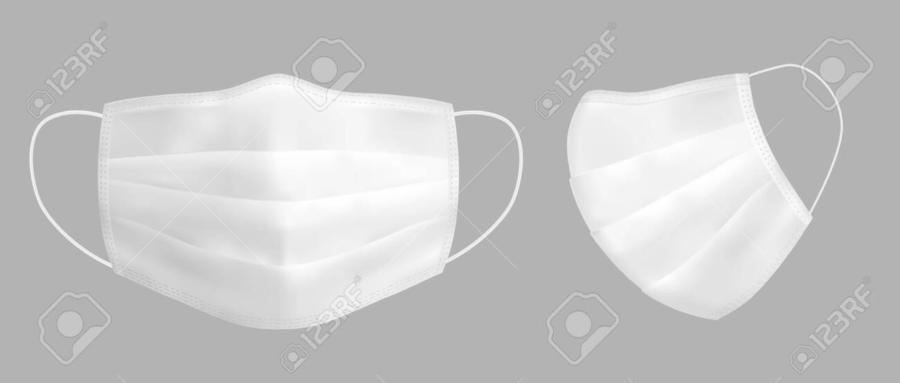 Vector realistic medical face mask - 145118041