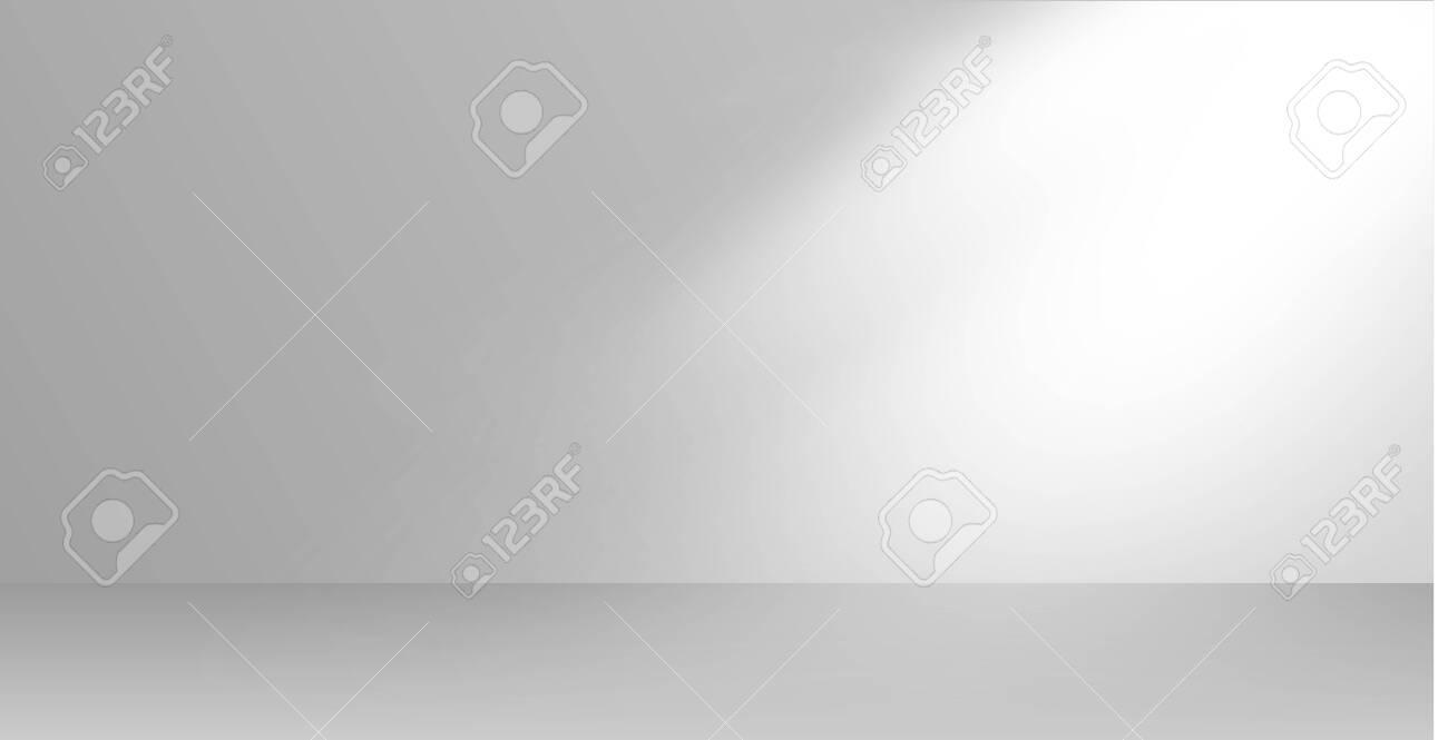 Vector rays of light. Bright stage lighting. Empty room - 145118055