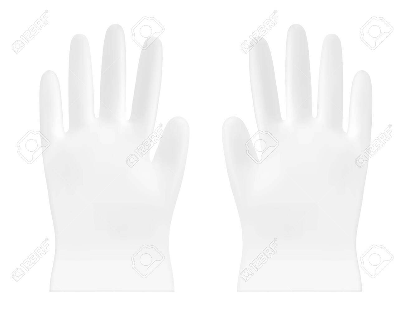 Disposable vector plastic or nitrile gloves - 145118063