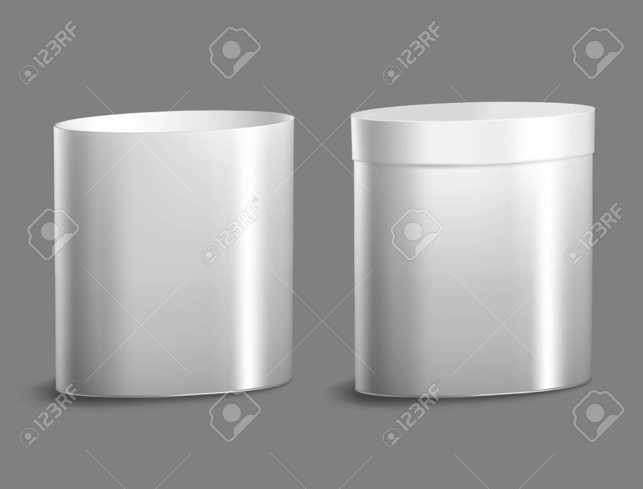 Oval metal can for food, cookies and gifts. - 145205562