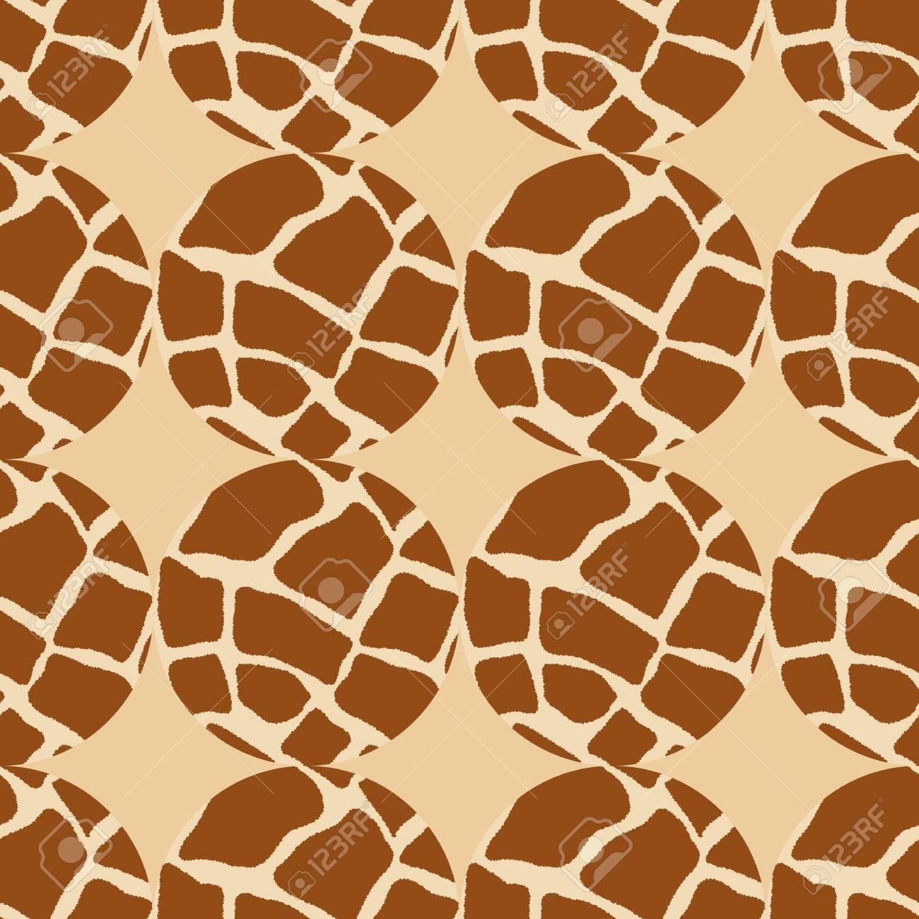 サークル ベクトル図のシームレスな幾何学模様 キリンの肌の背景のイラスト素材 ベクタ Image
