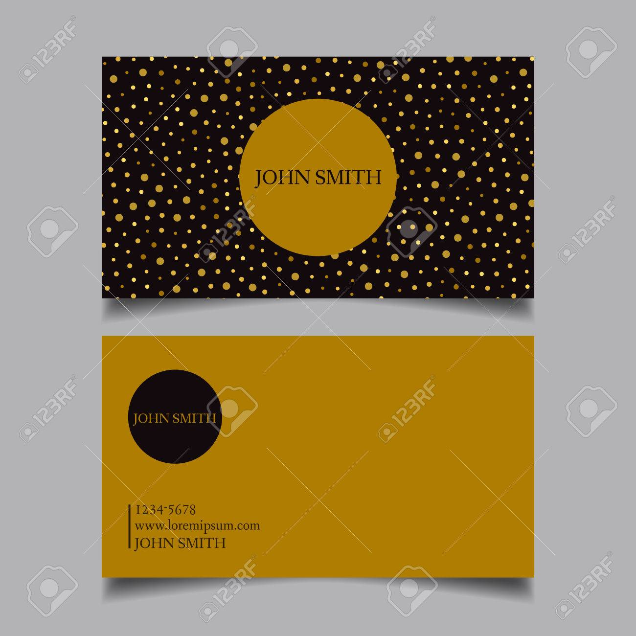 Template business card editable neat golden dots with black template business card editable neat golden dots with black combination the design cheaphphosting Image collections