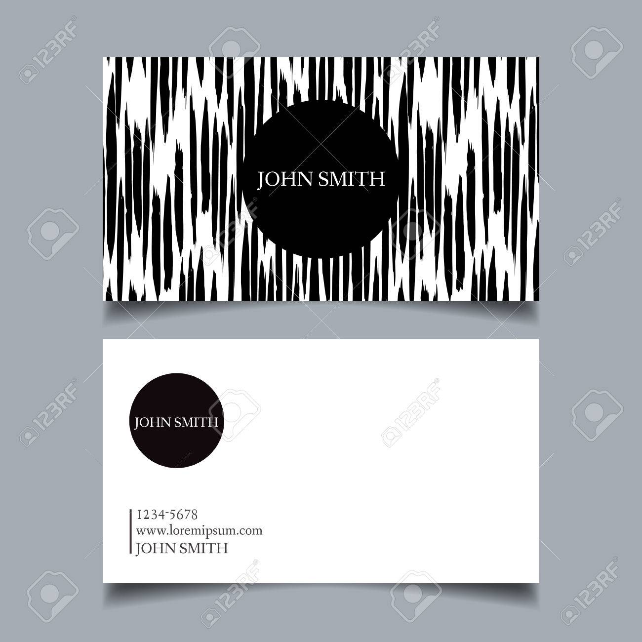 Template Business Card, Editable, Neat, Black-and-white Background ...