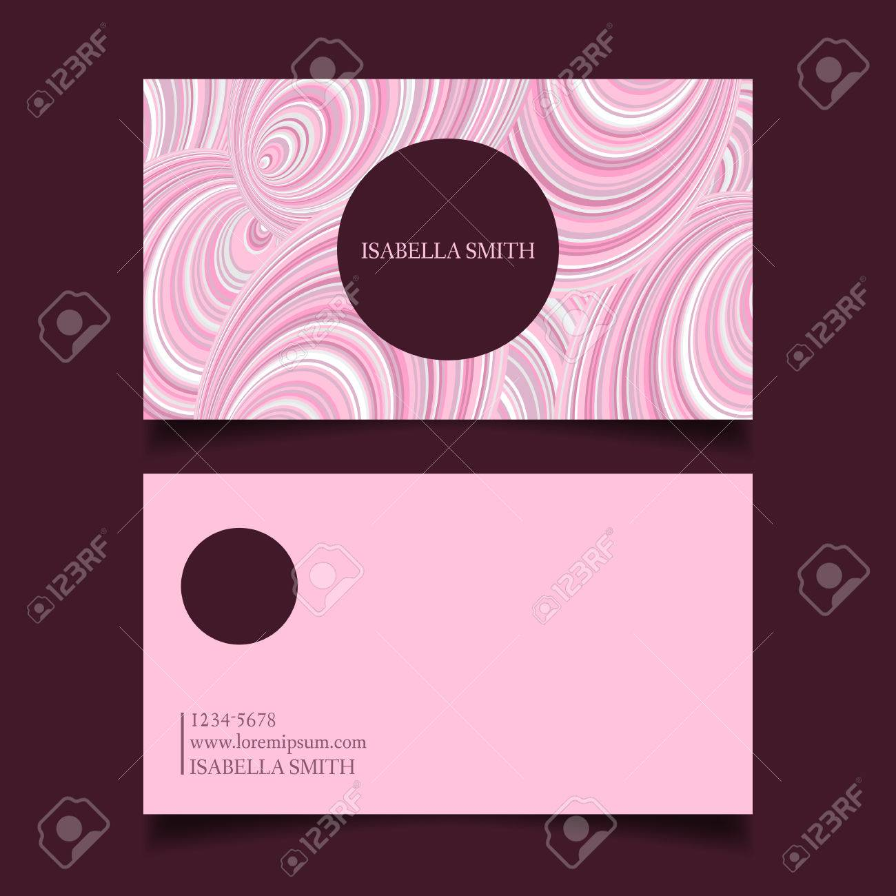 Business card template editable gently pink color palette design business card template editable gently pink color palette design vector stock vector flashek